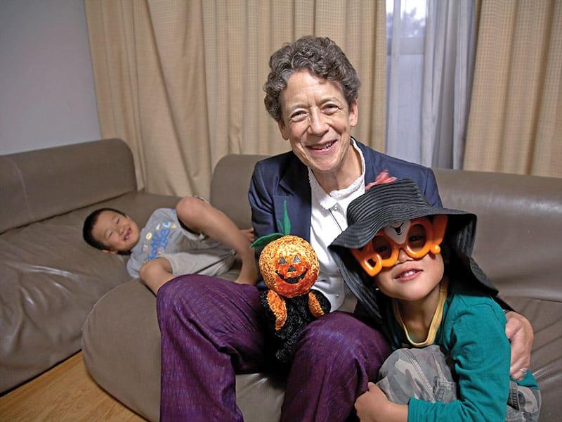 Sister Kathleen Reiley brings Halloween to Japanese children. (Sean Sprague/Japan)