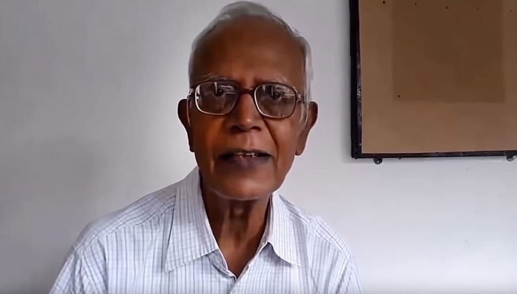 Jesuit Father Stan Swamy, 83, who has worked for tribal rights in India, was arrested Oct. 8, 2020. Major opposition parties in India and a United Nations official sought the release of backed the priest who was jailed for alleged charges of sedition and links with Maoist rebels This screenshot is from a video he made before his arrest. (CNS screenshot/YouTube)