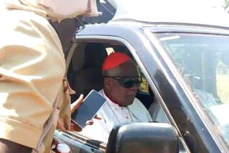 Christian Cardinal Tumi, pictured after his liberation on November 6, 2020. Credit: Kumbo Diocese in Cameroon.