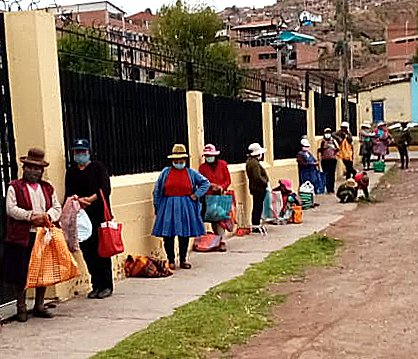 Lines at Soup Kitchens Replace Tourism in Peru's Historic Cusco