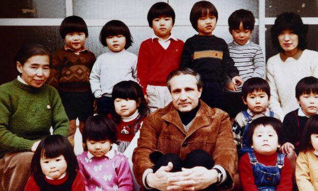 Father Jim Jackson at Lake Biwa