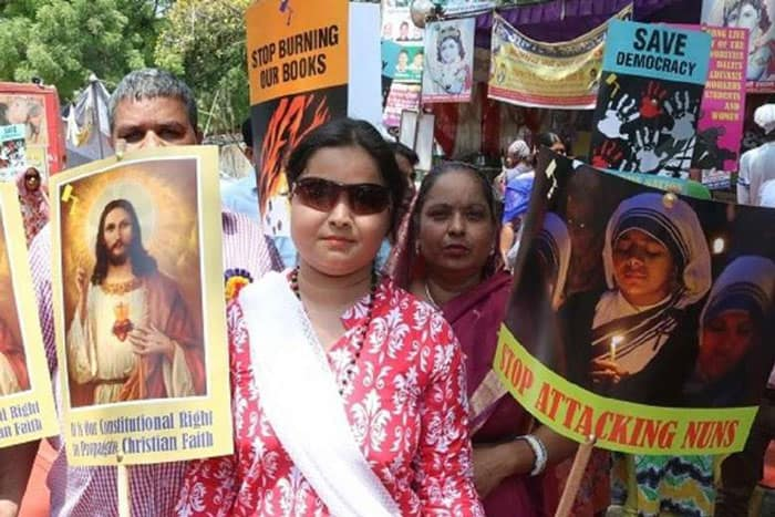 christian persecution: Christians demonstrate in New Delhi asserting their constitutional right to freedom of religion on May 13, 2016. (Photo: UCA News/IANS)
