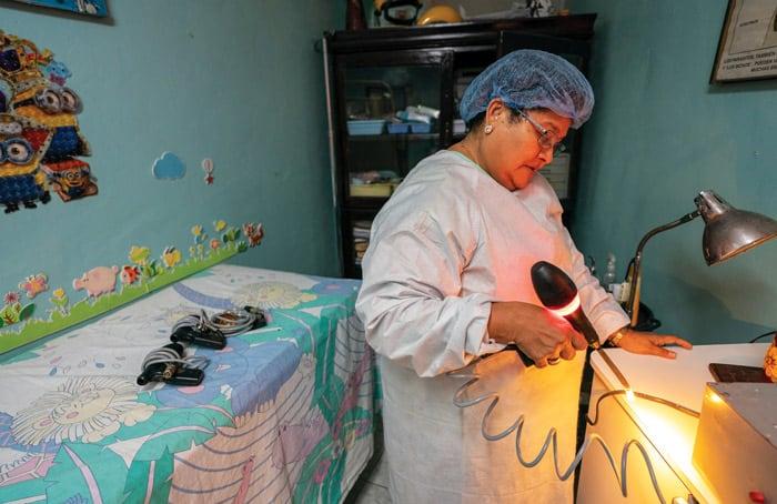 Suyapa Bonilla at her health clinic in Barrio Chamelecón. (Gregg Brekke/Honduras)