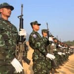 Karen refugees mobilize on Thai border to fight Myanmar army