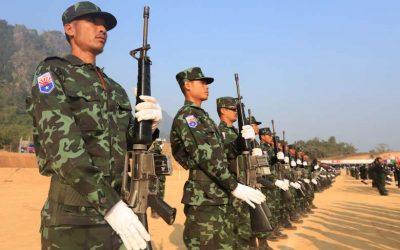 Karen refugees mobilize on Thai border to fight Myanmar army