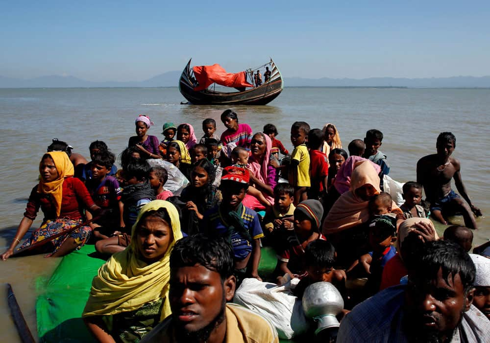 Rohingya refugees in Bangladesh are seen in this 2017 file photo. President Joe Biden increased the annual refugee admissions by almost 48,000 people May 3, 2021. (CNS photo/Navesh Chitrakar, Reuters)