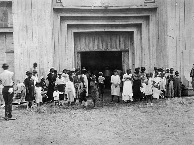 An entrance to a refugee camp is seen on the Tulsa, Okla., fair grounds after the 1921 race massacre. (CNS photo/American National Red Cross, Library of Congress, Handout via Reuters)