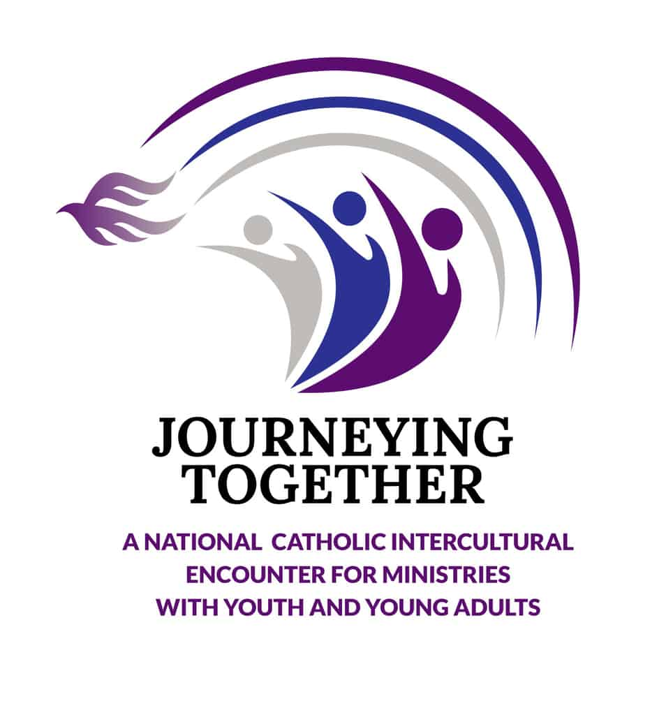 This is the logo for the U.S. Conference of Catholic Bishops' Journeying Together intercultural dialogue program. (CNS illustration/USCCB)